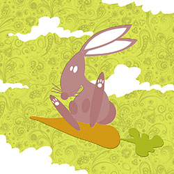 Carte postale Lapin -Illustrator